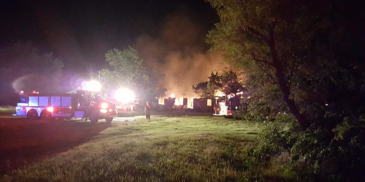 House destroyed by fire in Comanche County