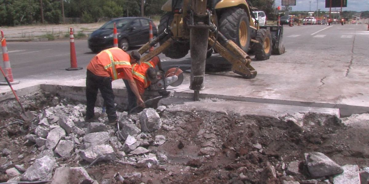Crews fixing roads destroyed by heat