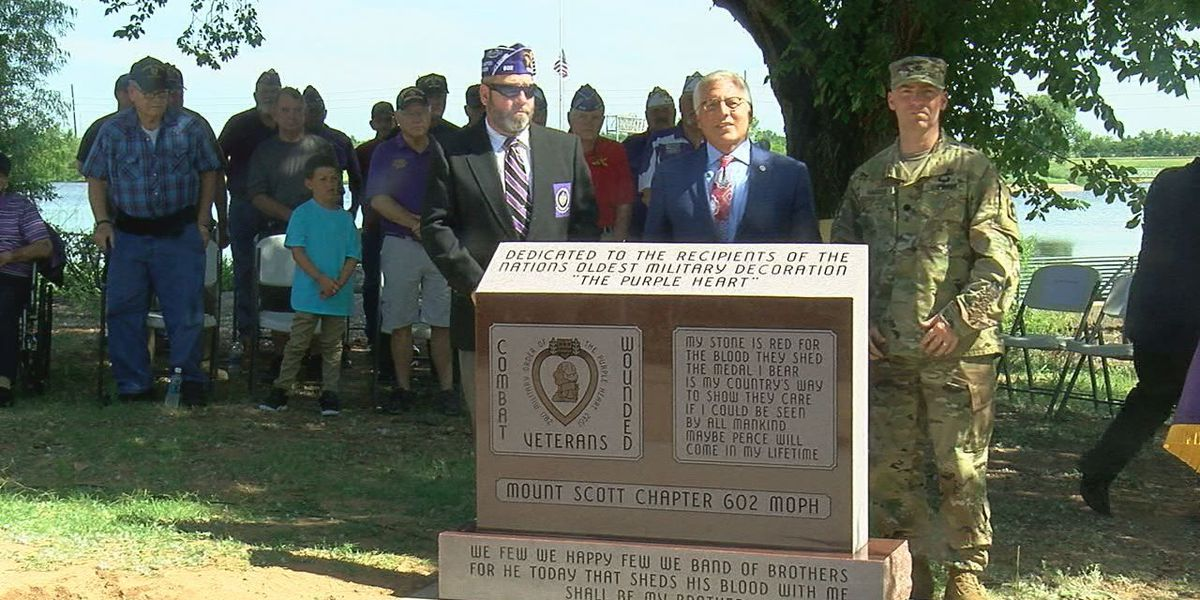 Lawton declared Purple Heart City, new monument unveiled
