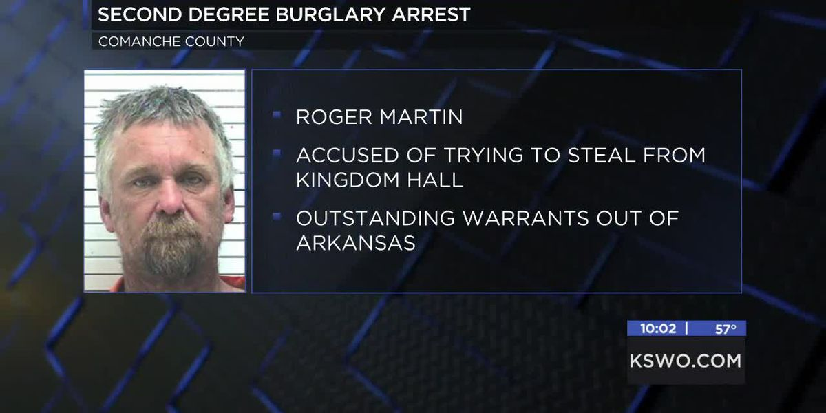 Burglary of Kingdom Hall of Jehovah's Witnesses in Lawton leads to arrest