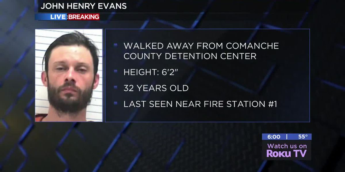 Inmate escapes from Comanche County Detention Center: 10-31-18