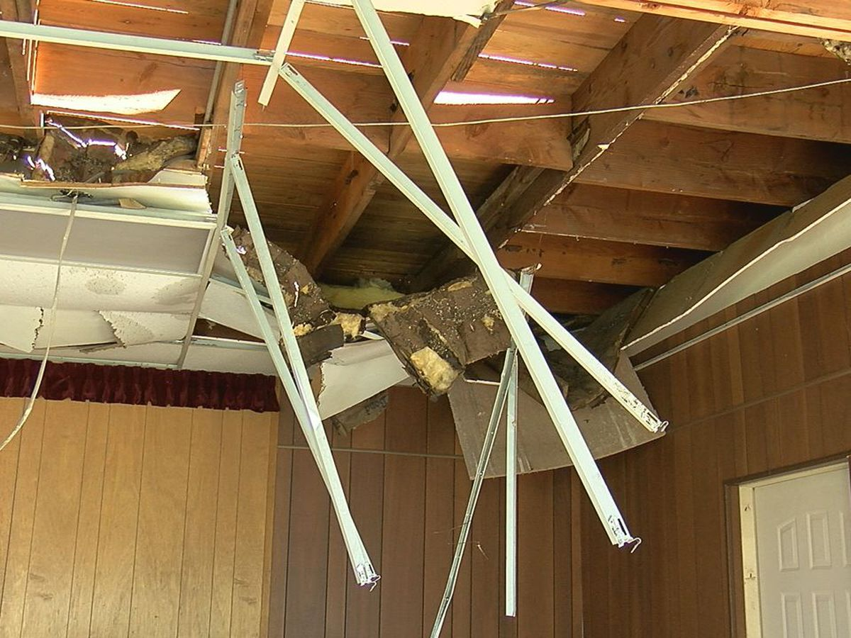 Heavy winds damage Lawton church