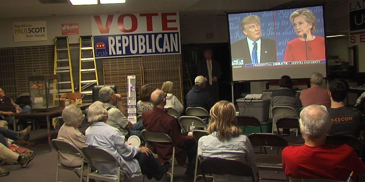 Locals gather to watch first presidential debate