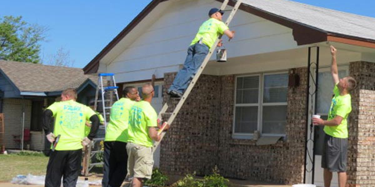 Volunteers painting homes for Lawton's 2nd annual 'Fresh Paint Day'