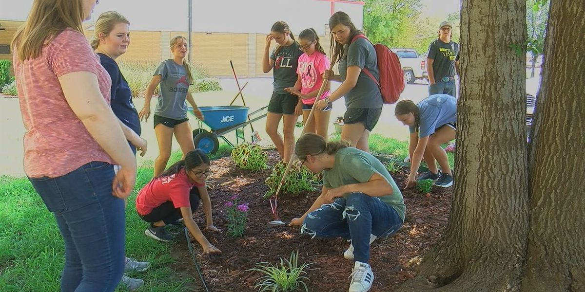 Frederick students volunteer to beautify school's campus