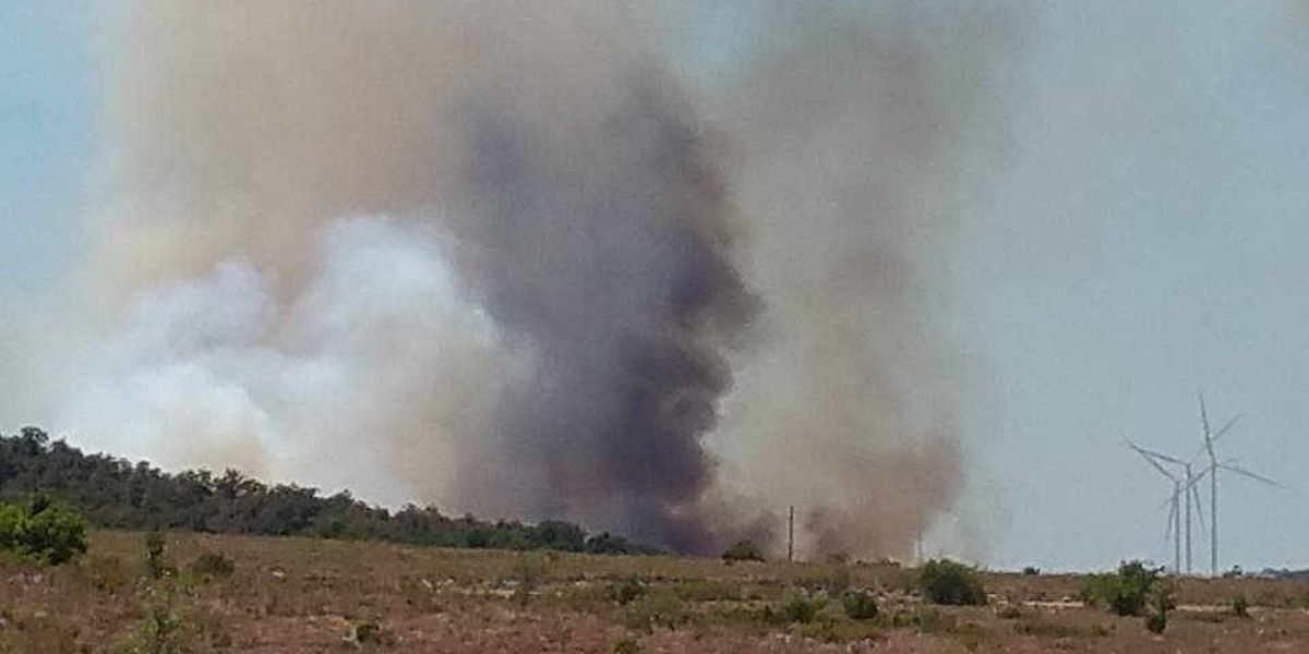 Arbuckle Mountains wildfire triples in size in 24 hours