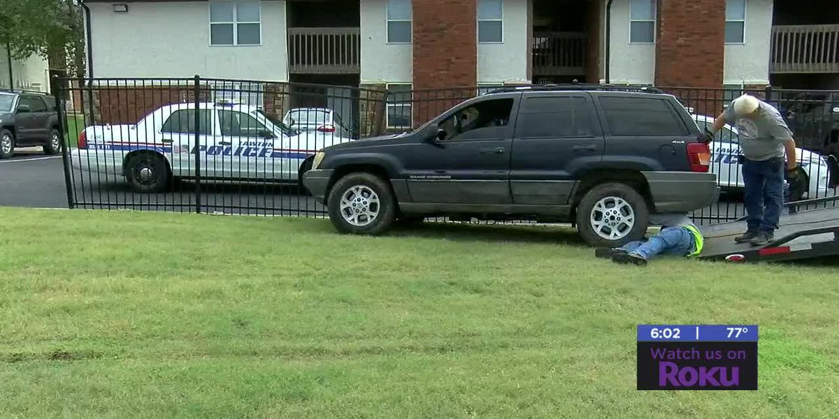 Driver crashes vehicle into apartment fence