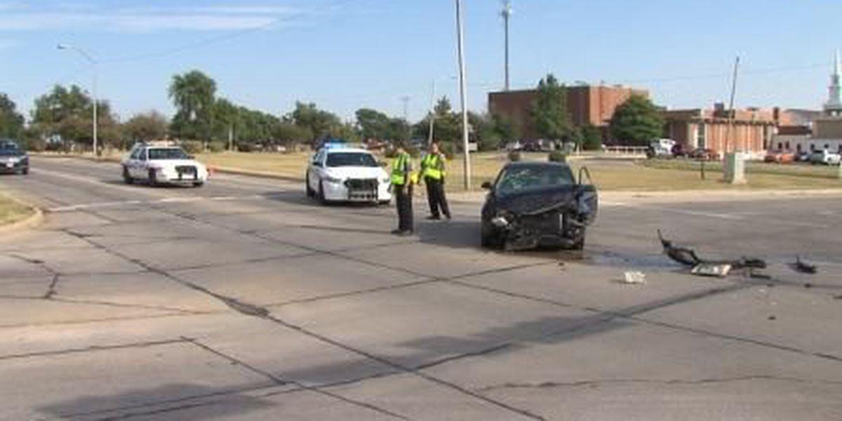 Two-car crash detours traffic