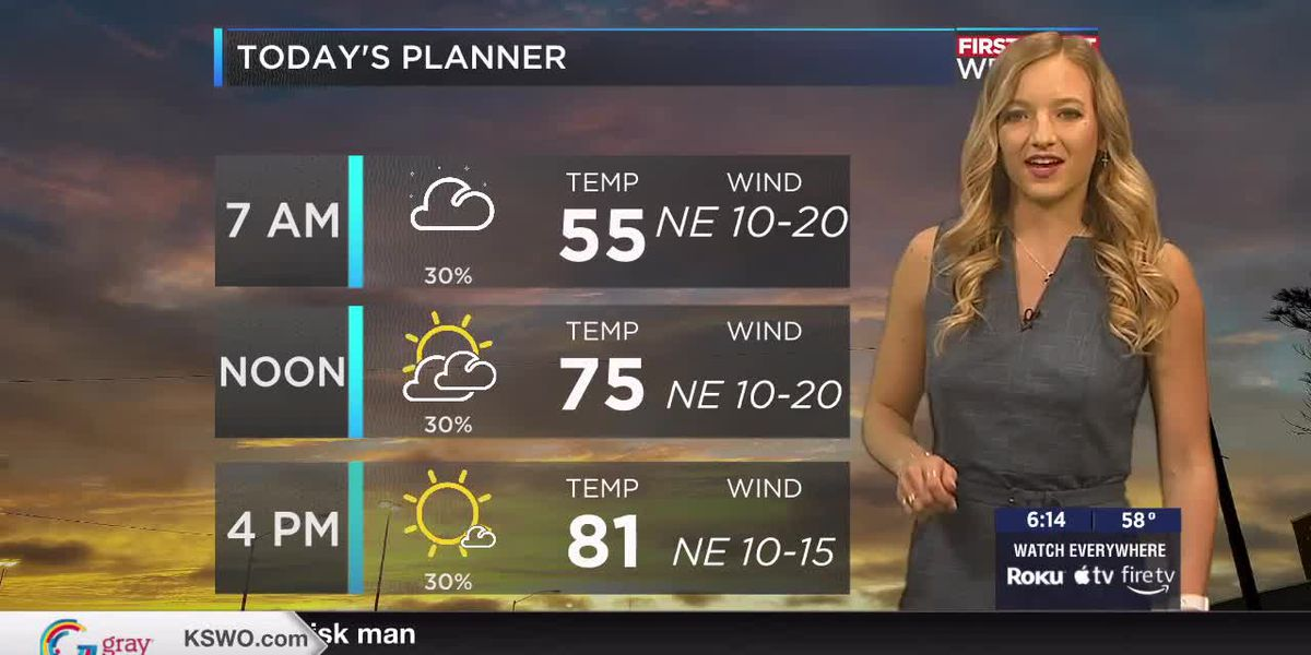 7News First Alert Weather: A beautiful morning is in store before storm chances move into the region this afternoon