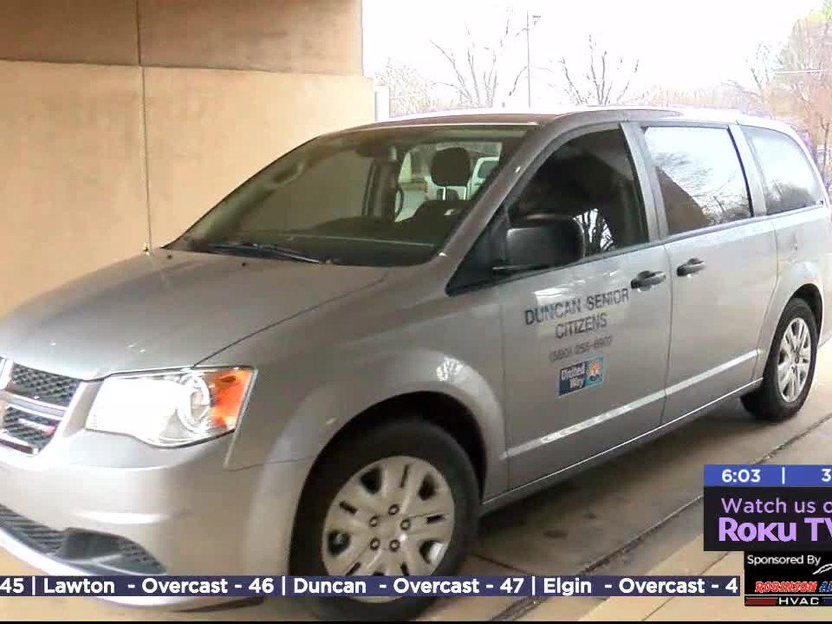 Fundraiser allows Duncan senior center to get new van