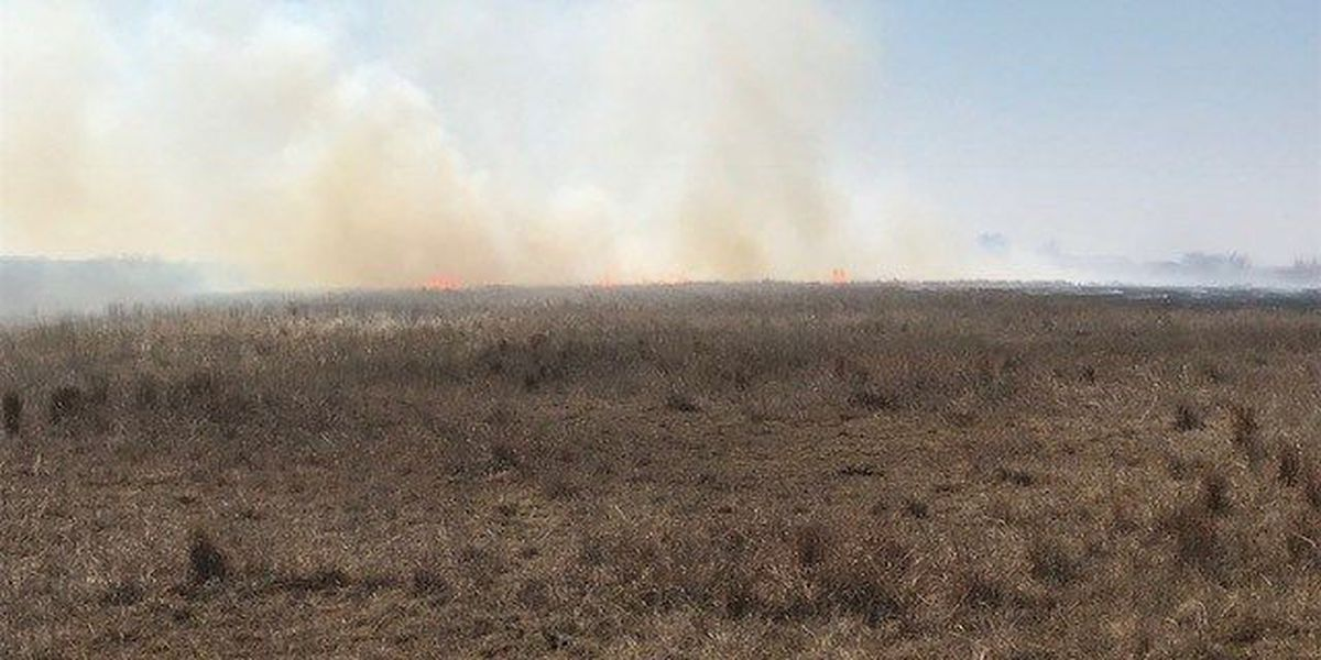 Fire crews respond to grass fire just west of Lawton