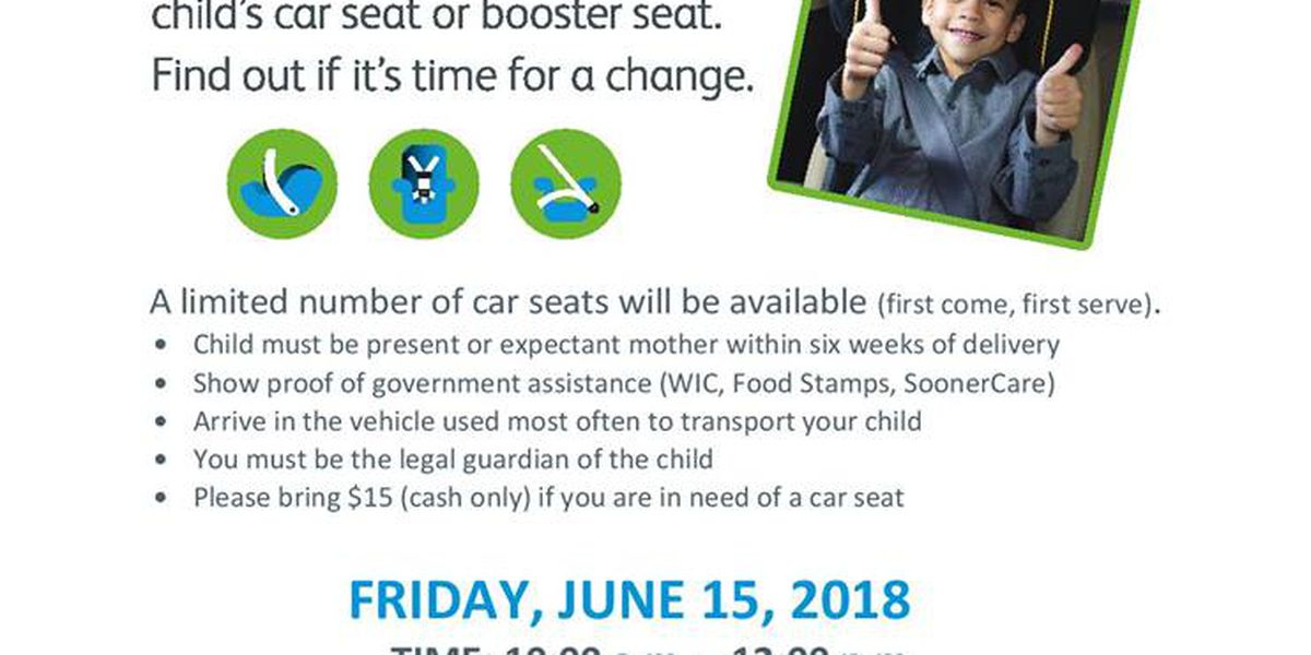 Comanche County Health Department hosting Car Seat Checkup Event