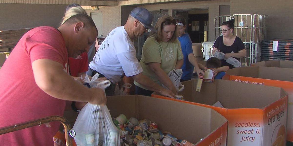 Cans collected for Stamp Out Hunger in Lawton
