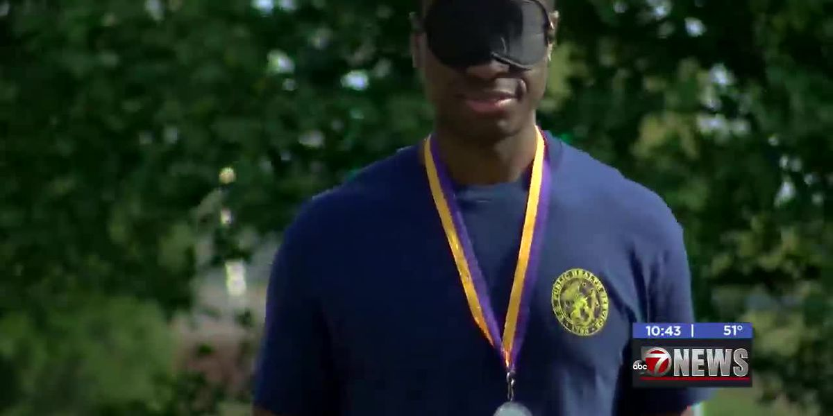 Local group holds blindfolded run to help those with vision problems