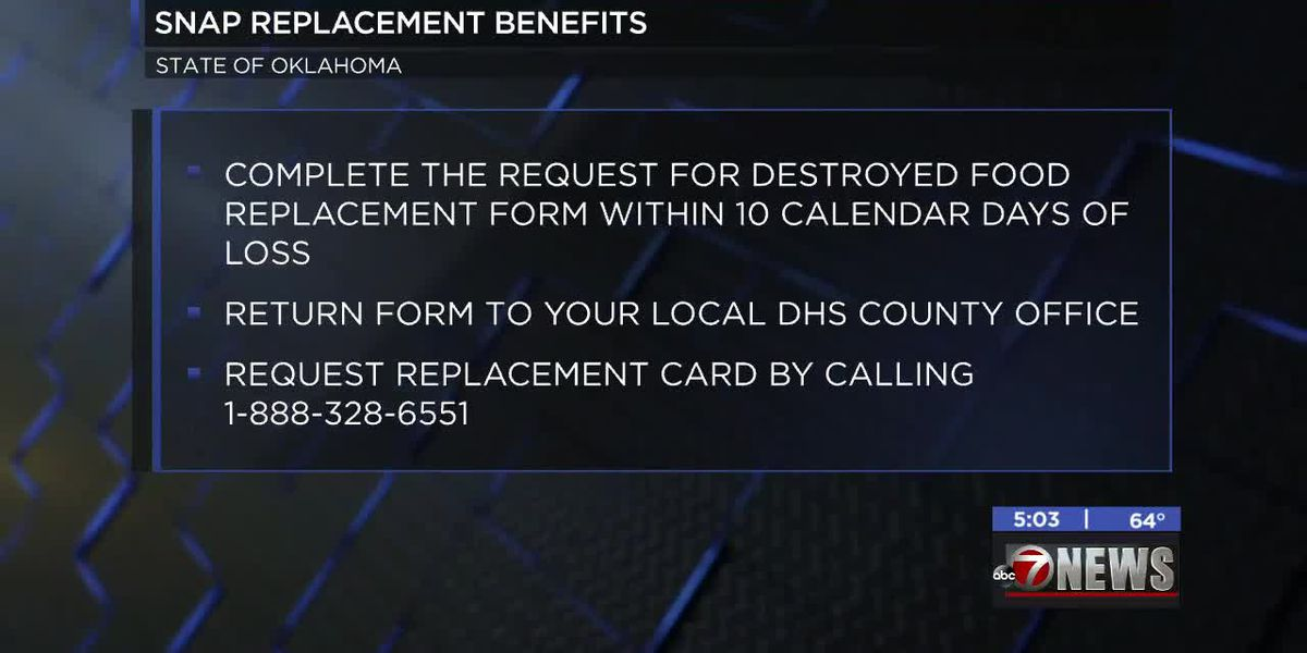 DHS processing replacement requests for SNAP benefits after severe weather