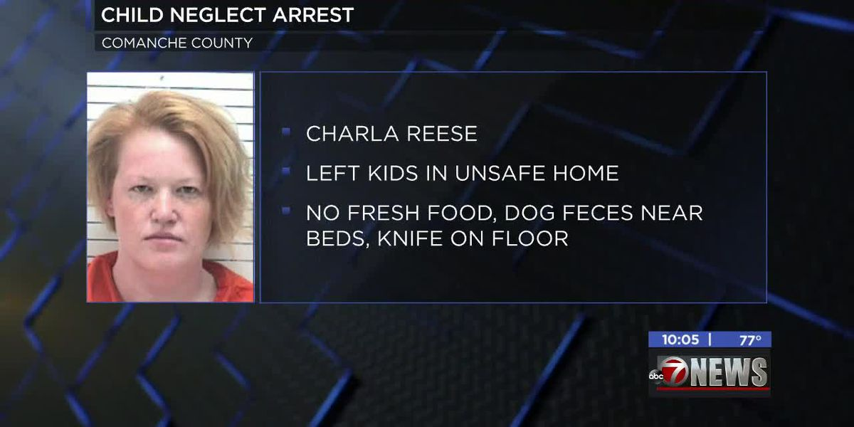 Lawton woman charged with child neglect