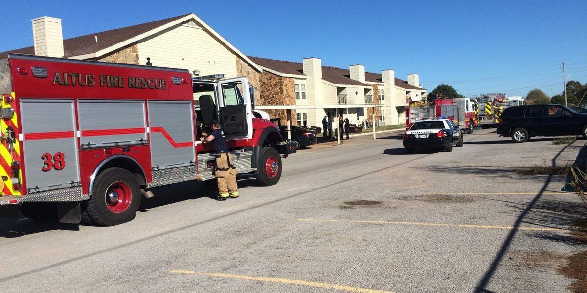 Altus apartment fire causes evacuations