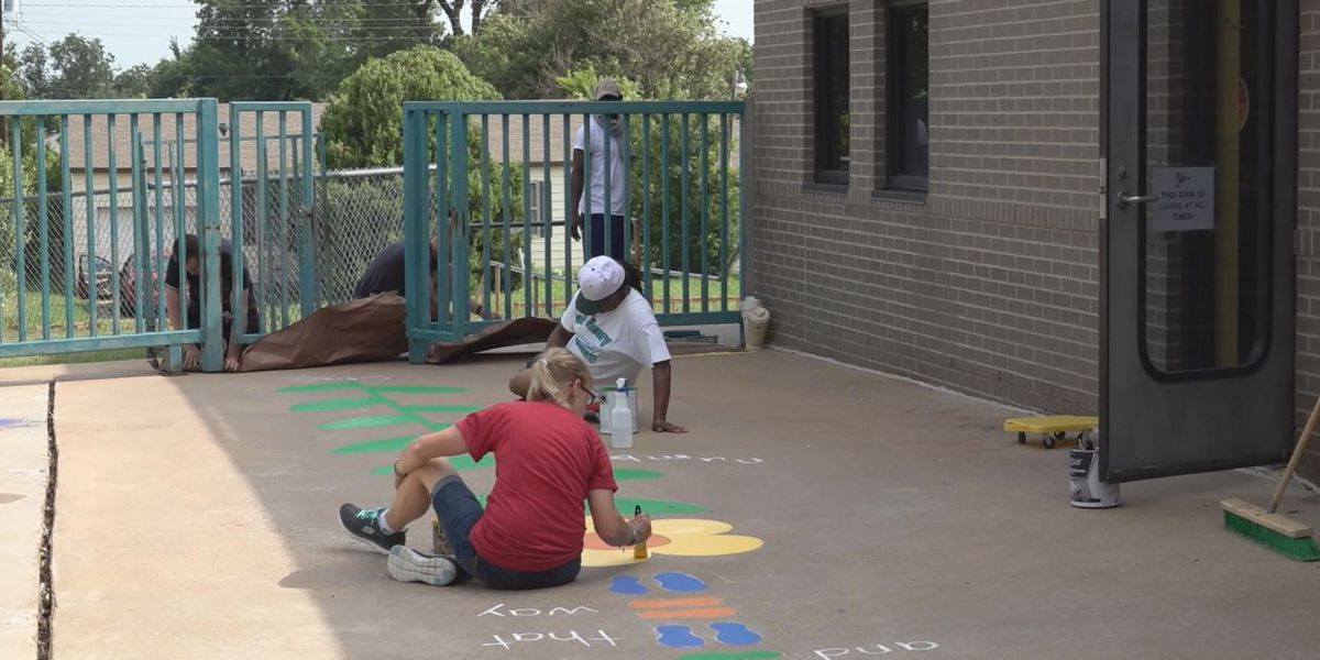 Enhancements made to Pat Henry Elementary's playground