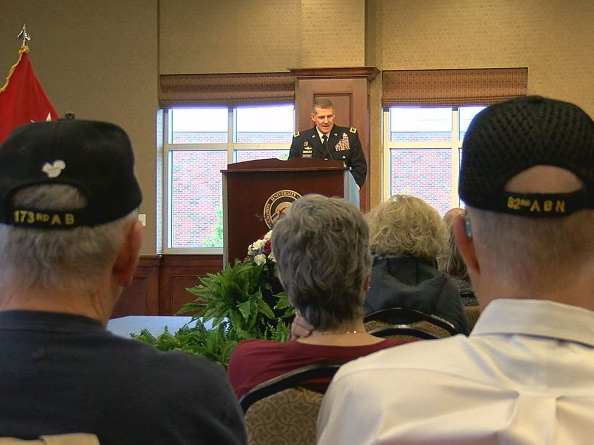 Cameron holds ceremony to honor veterans