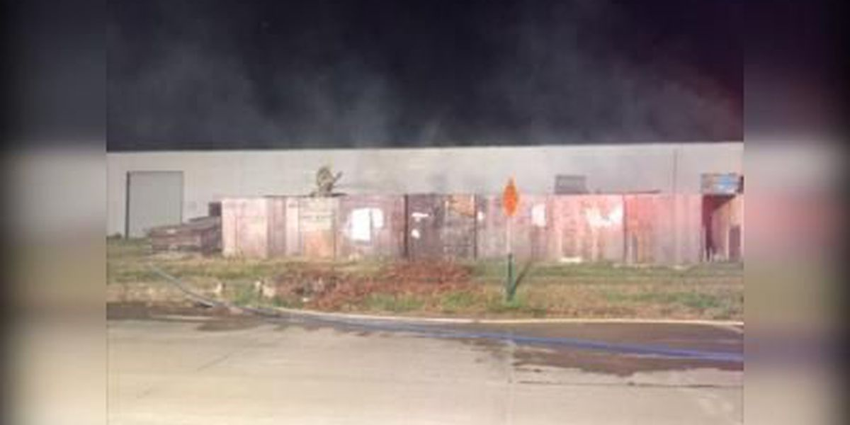 Several storage crates destroyed in mysterious fire