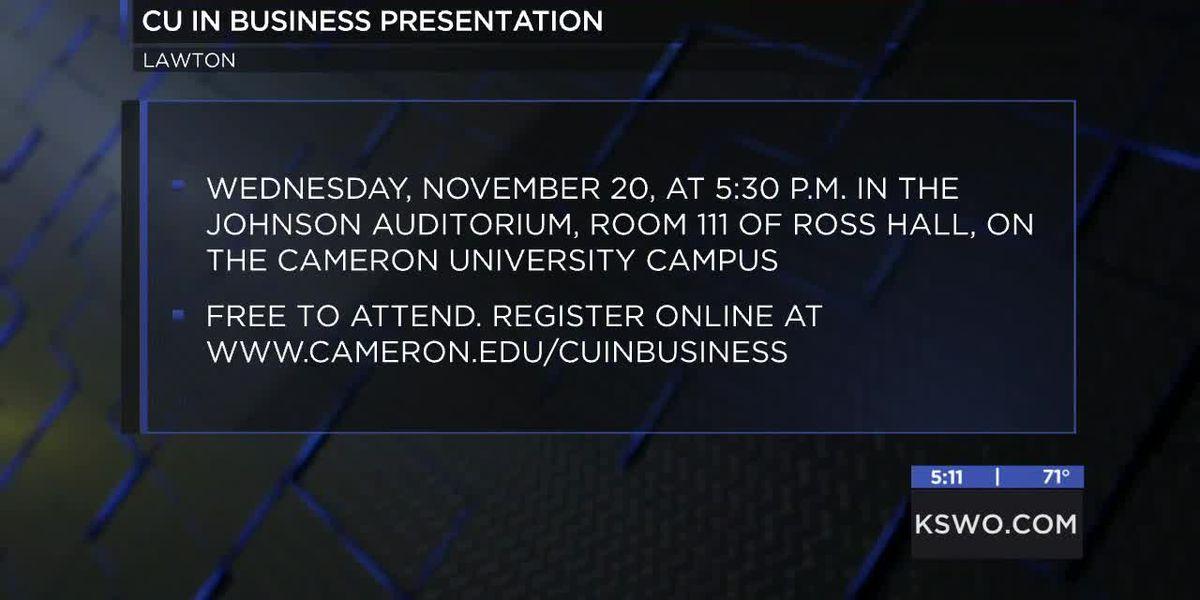 Cameron University presents CU in Business workshop