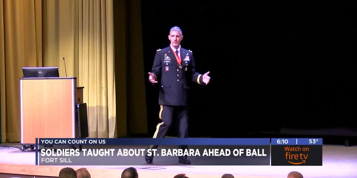Fort Sill soldiers learn about St. Barbara