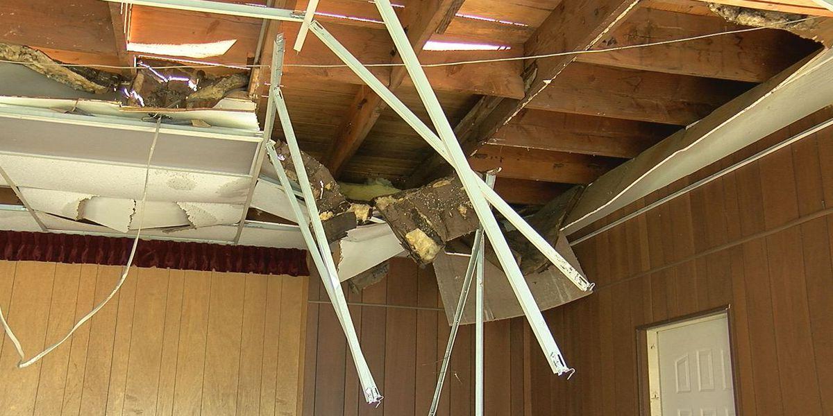 Heavy winds damage Lawton church