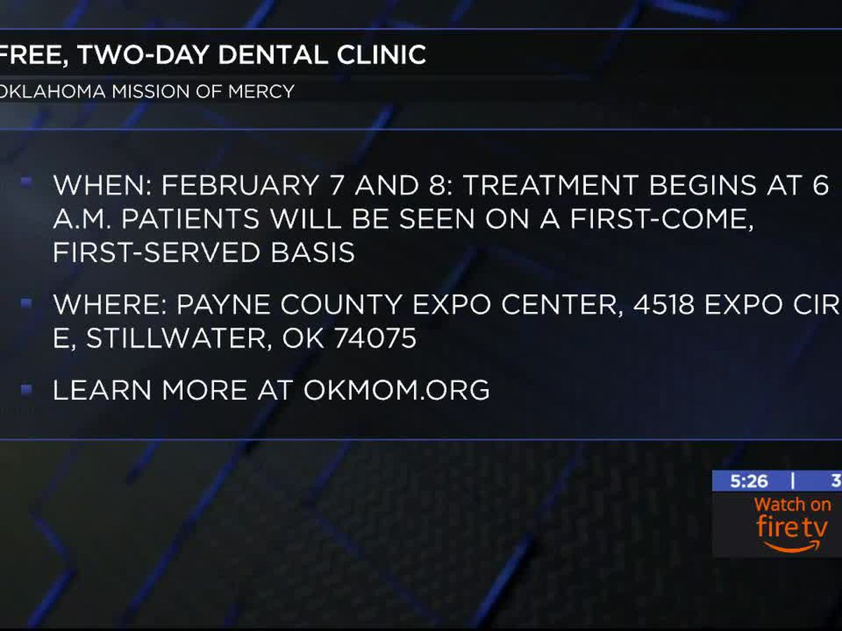 Oklahoma Mission of Mercy holding a free two-day dental clinic