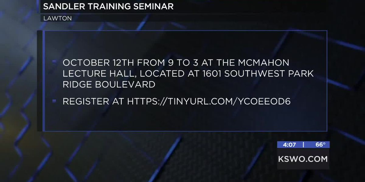 Lawton Fort Sill Chamber of Commerce hosting Sandler Training Seminar