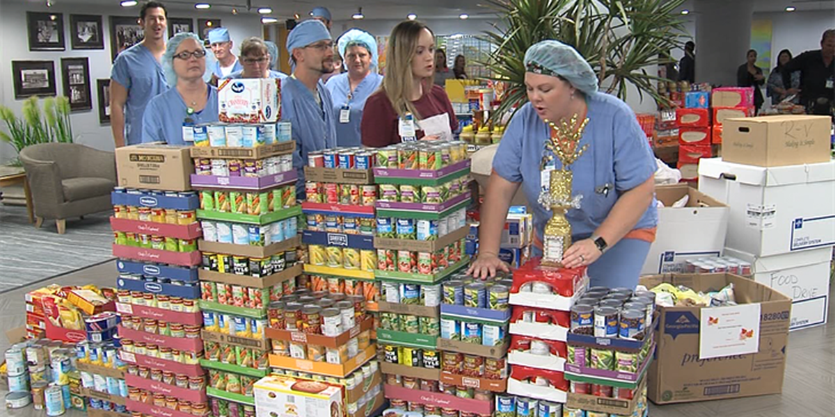 CCMH collects 10,000 cans for the Lawton Food Bank