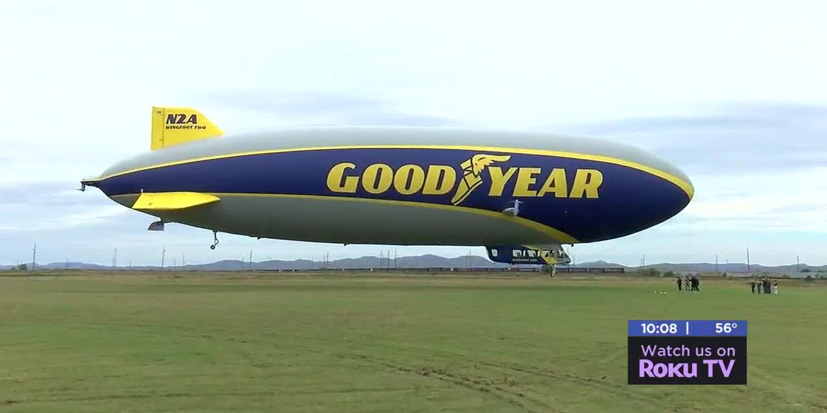 Goodyear blimp visits Lawton