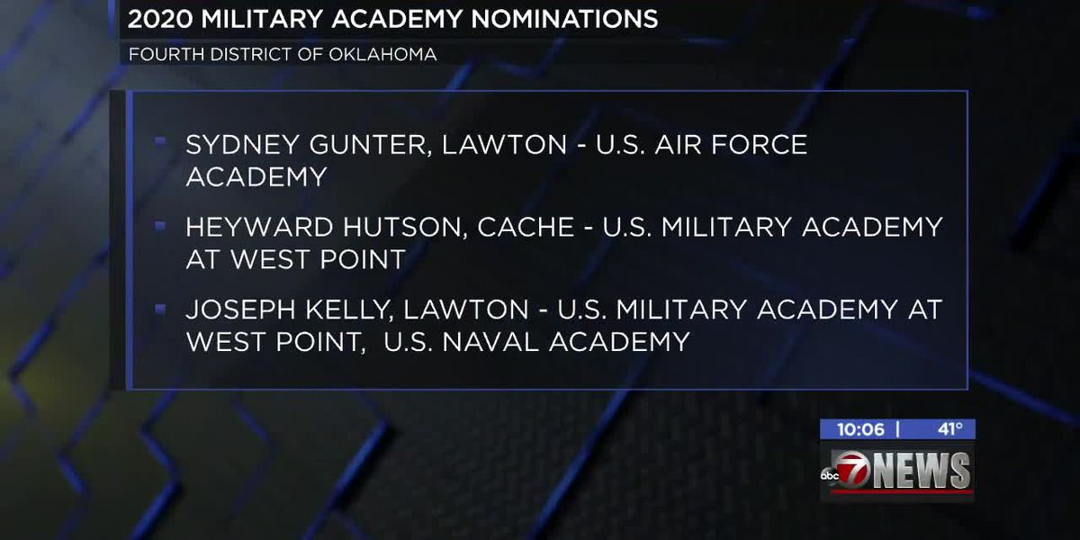 Local students given congressional nomination for entry to prestigious military academies
