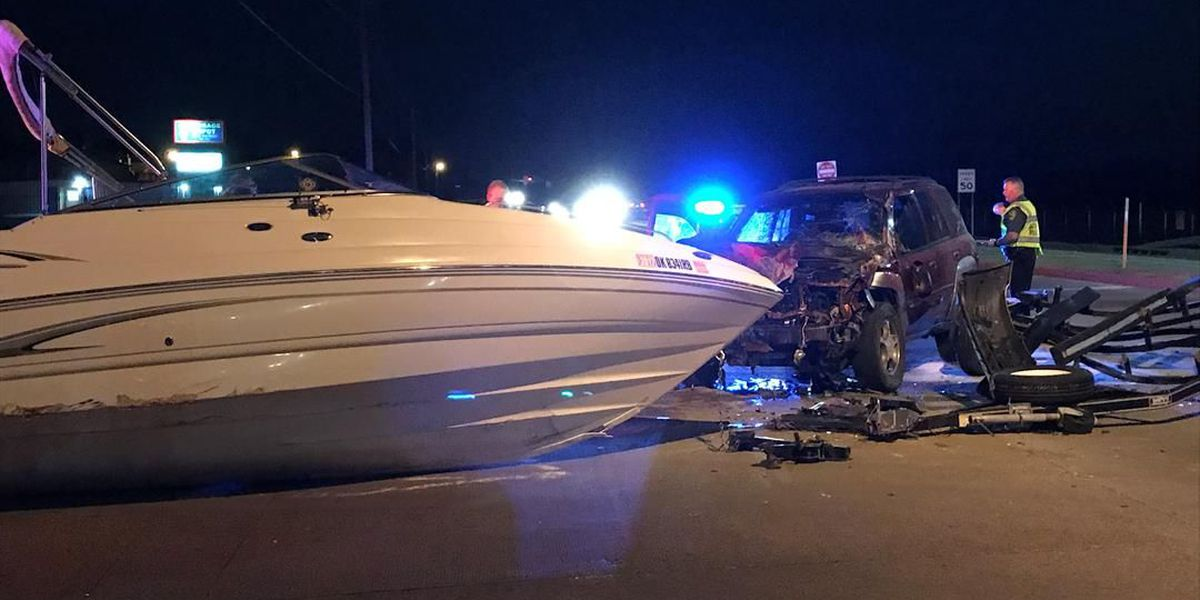 Two vehicles, boat involved in accident at 38th and Rogers Lane