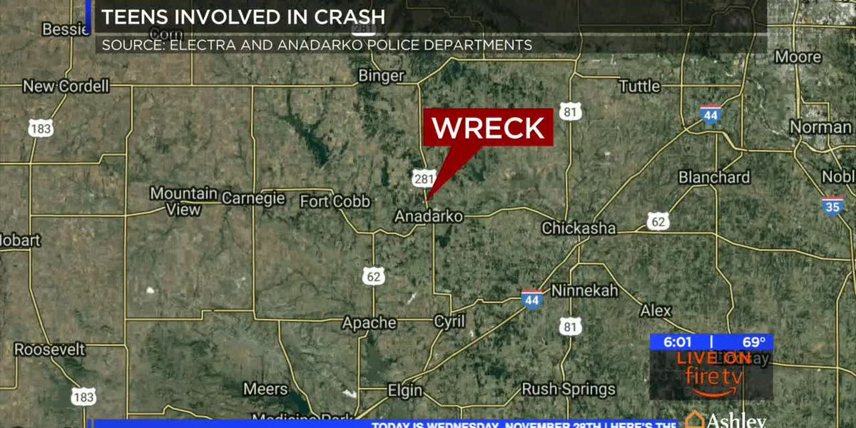 Wichita County teens involved in pursuit, crash in Oklahoma