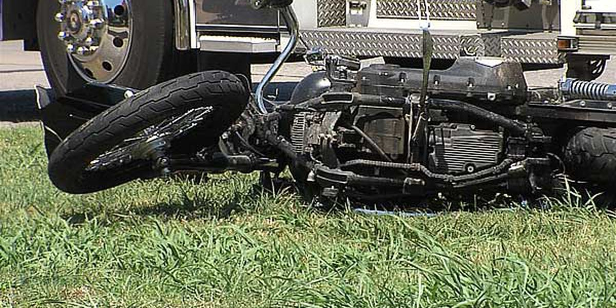 1 motorcyclist sent to hospital after collision