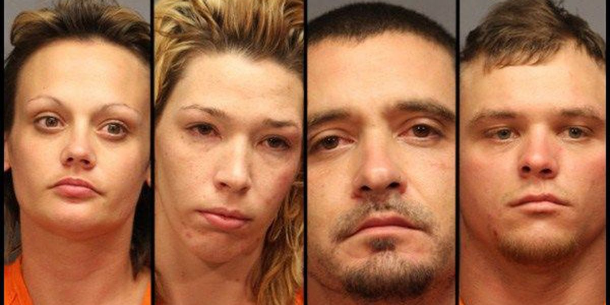 4 people arrested for meth following tip