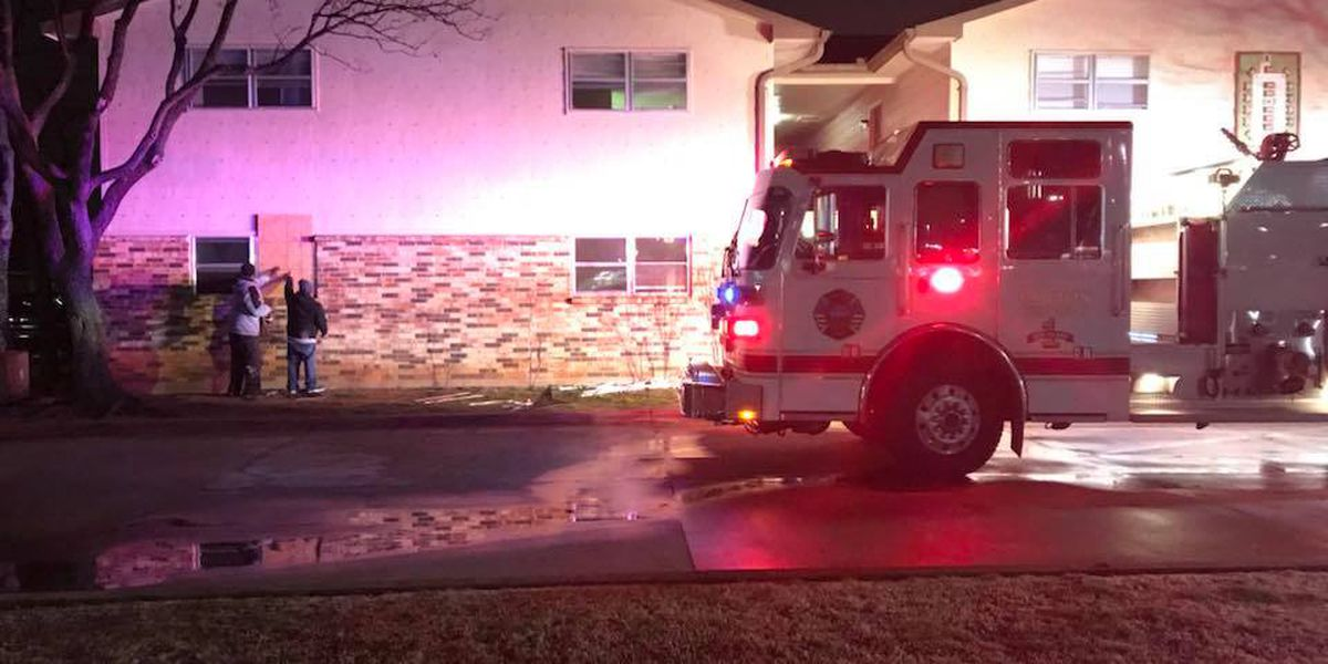 Lawton Fire Department respond to apartment fire