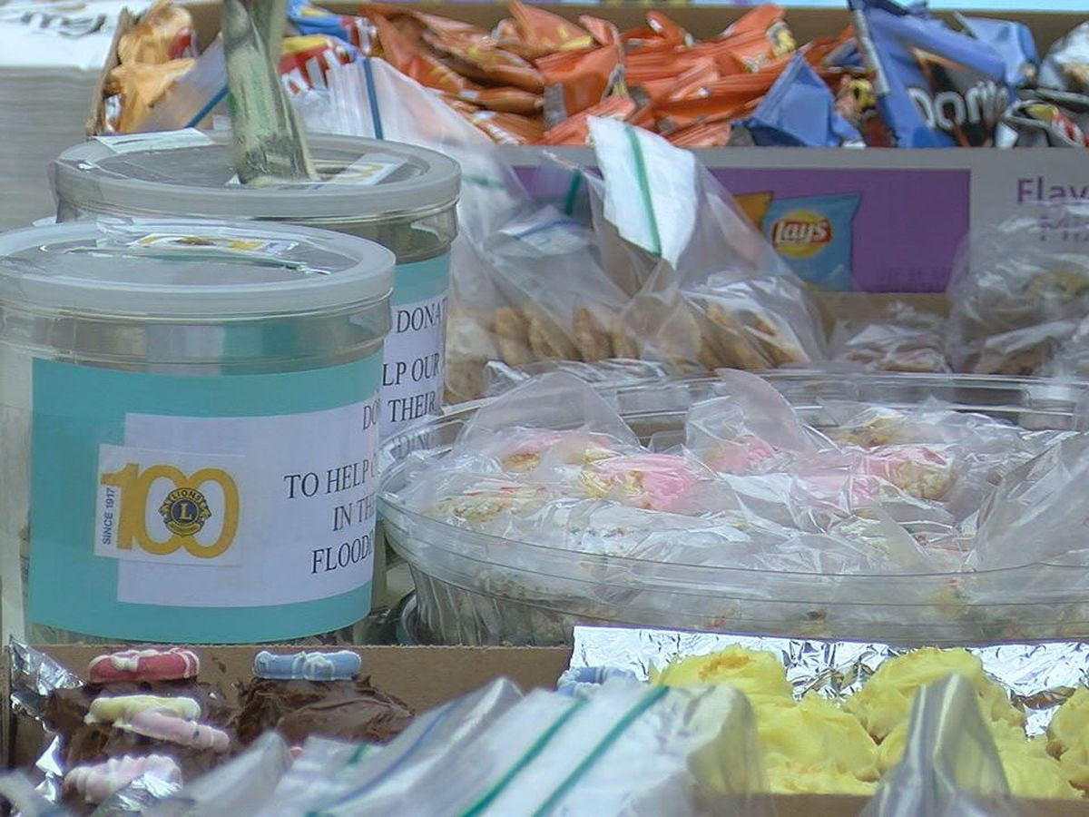 Lawton Patriot Lions Club hosts bake sale to help flood victims