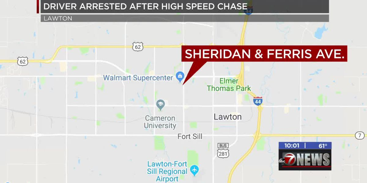 Driver arrested after Lawton police chase
