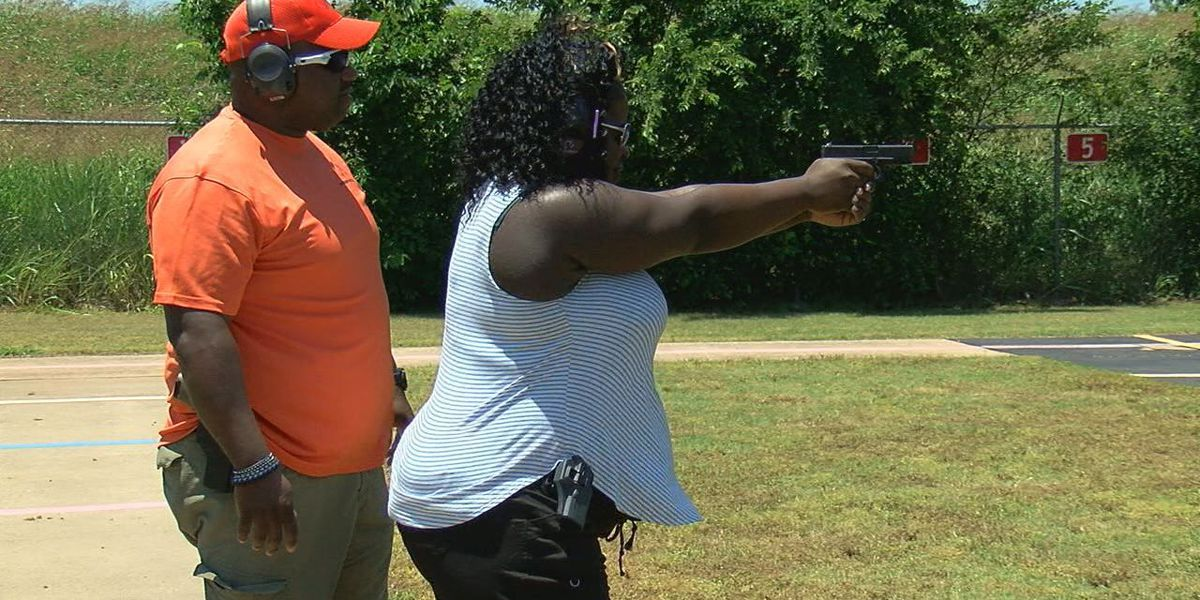 LPD family members practice firearm safety