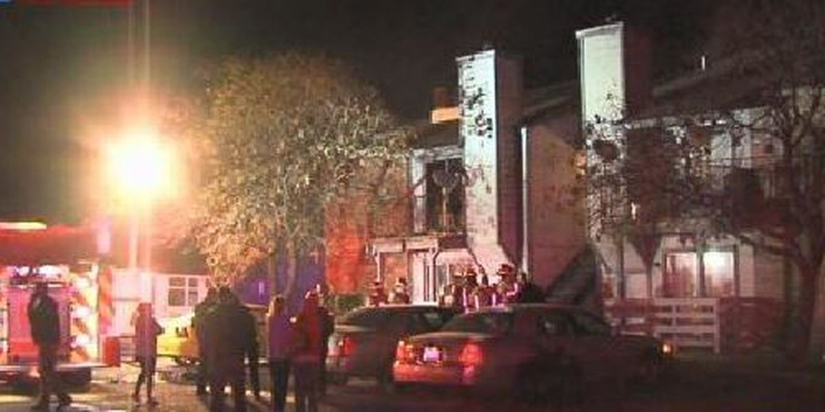 Lawton apartment building catches fire