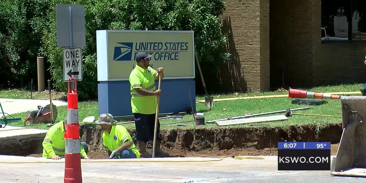 New crosswalks, sidewalk ramp coming to downtown Lawton