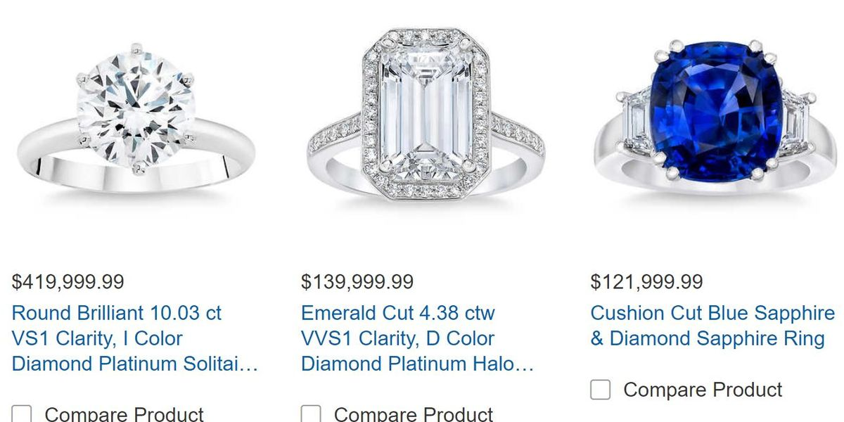Honey, I'm heading to Costco to buy a $400,000 ring