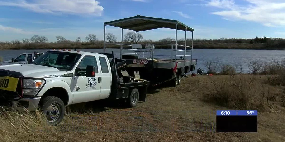 Eagle Scout candidate gets fishing dock for Duncan camp