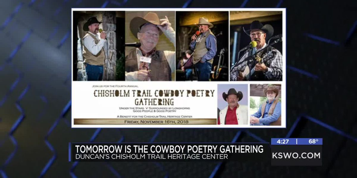 4th annual Chisholm Trail Cowboy Poetry Gathering happening in Duncan