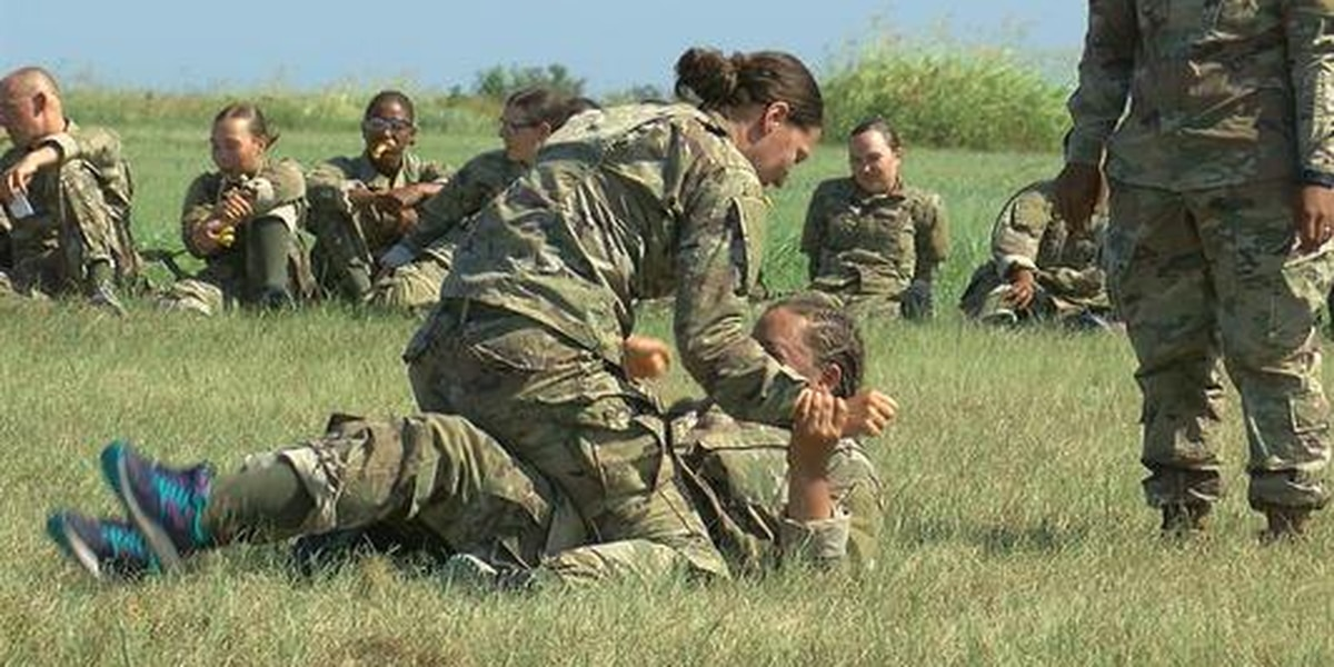 Combatives and pugil stick training for basic trainees on Fort Sill