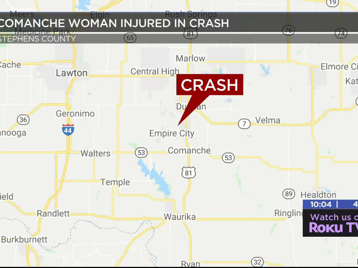 Comanche woman injured in crash
