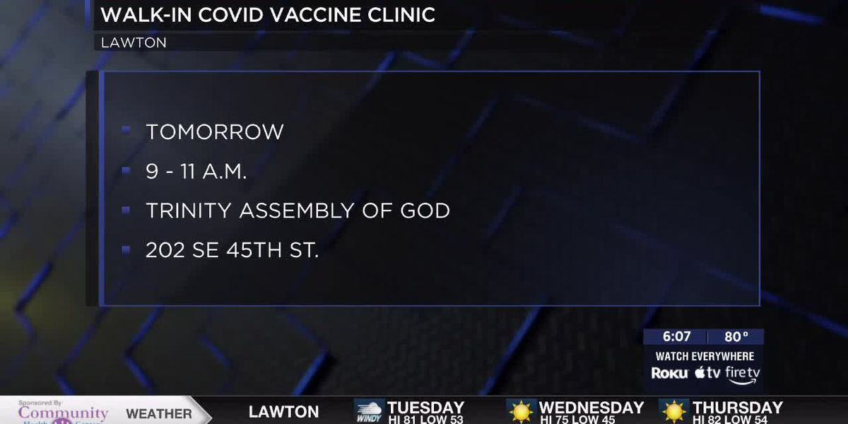 Walk-in COVID-19 vaccine clinic to be held at Trinity Assembly of God