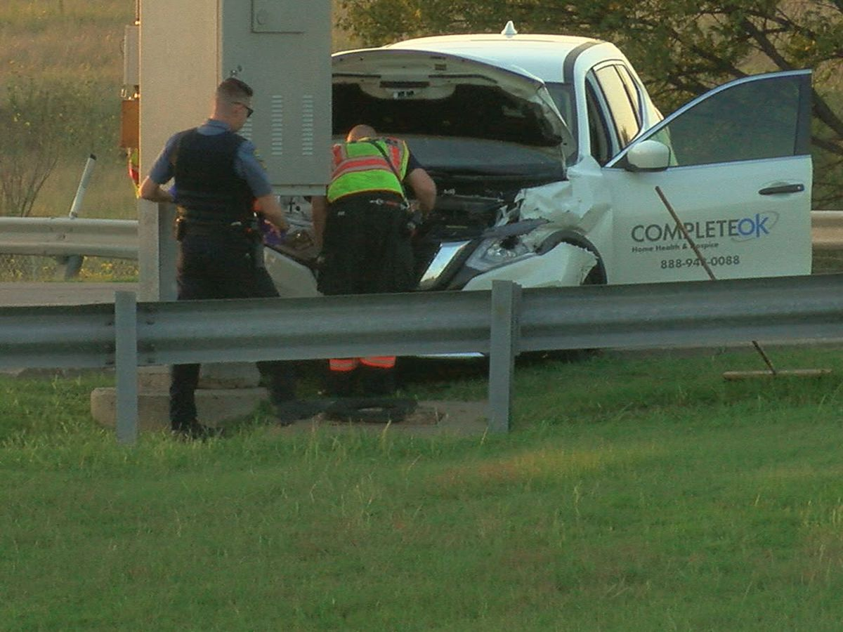 Minor injuries following crash Saturday evening