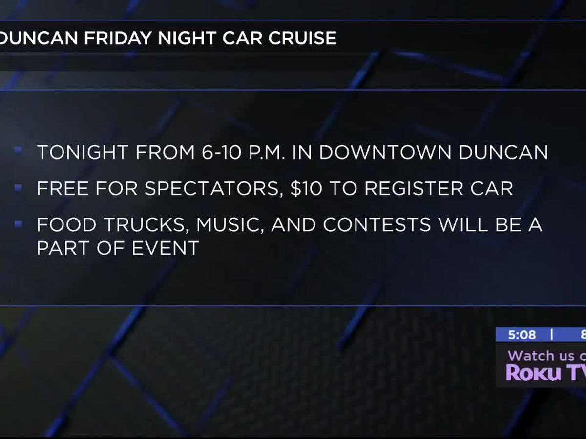 Main Street Duncan holding First Friday Night Car Cruise of the summer